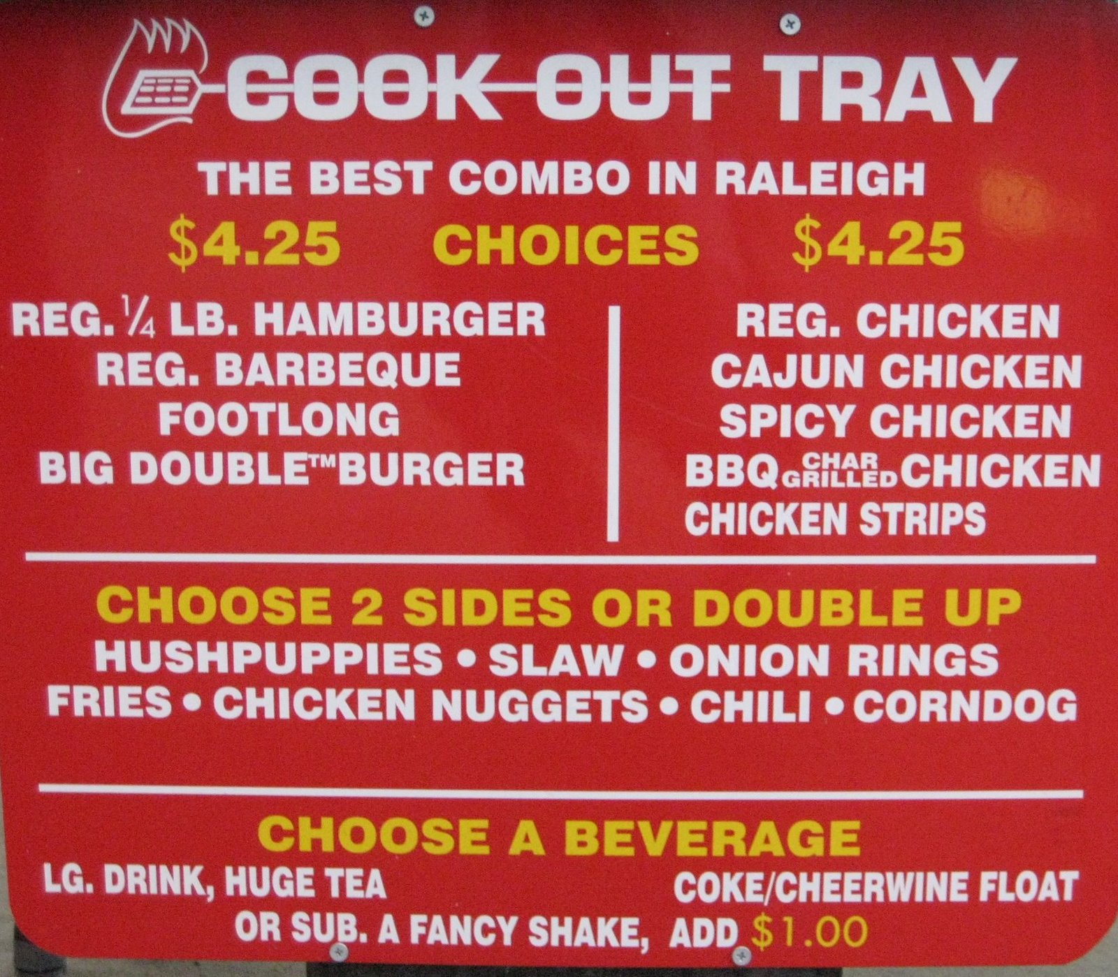 Cook Out Restaurant Menu, Locations